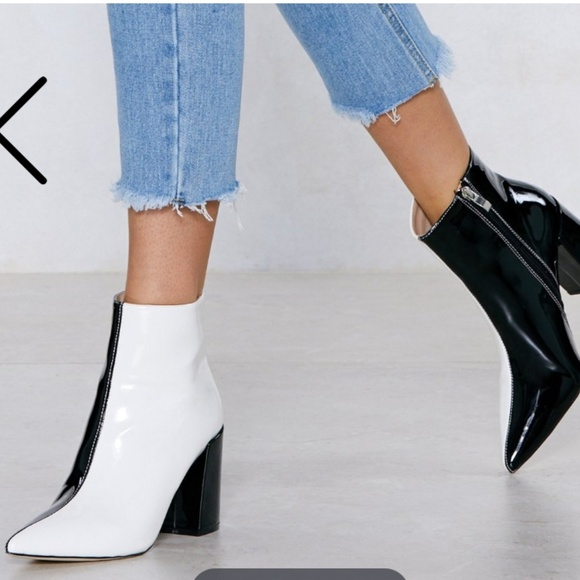 Nasty Gal Double Take Black And White